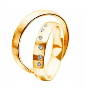Bridal-Wedding-Ring-Sets-FT524-of-Yellow-Gold