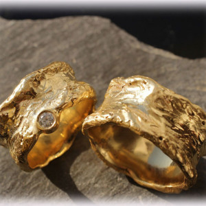 Engraved-Wedding-Rings-FT115-of-Yellow-Gold-2