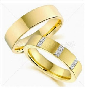 Engraved-Wedding-Rings-FT310-with-Princess-Diamonds