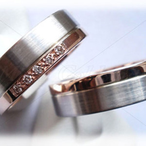 Platinum-Wedding-Ring-Sets-FT216-5-Diamonds