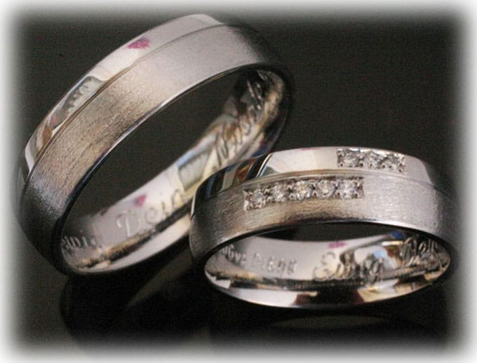 Custom Wedding Rings.Custom Wedding Ring Set Ft392 Polished With 0 10ct Diamonds