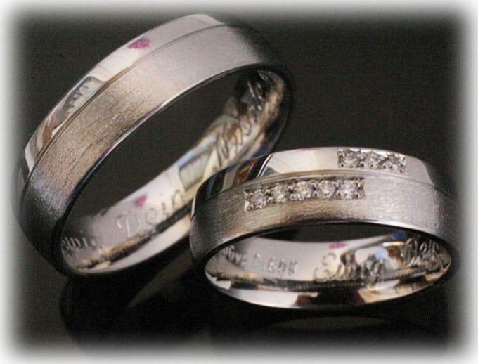 Custom Wedding Ring Set Ft392 Polished With 0 10ct Diamondsonline