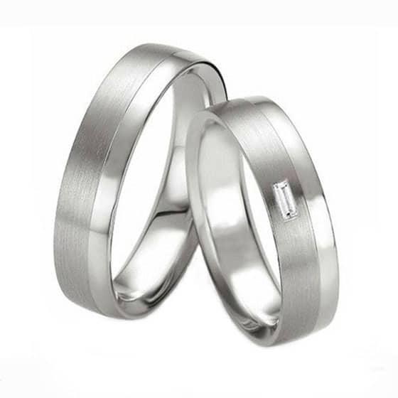 Platinum Wedding Ring Sets Ft532 With Baguette Diamondonline Shop