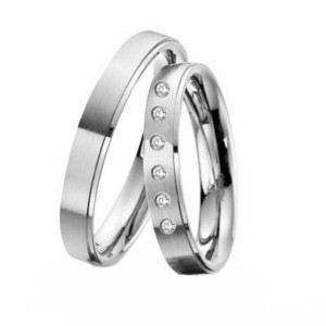 Platinum-Wedding-Rings-FT302-Matted-and-Polished