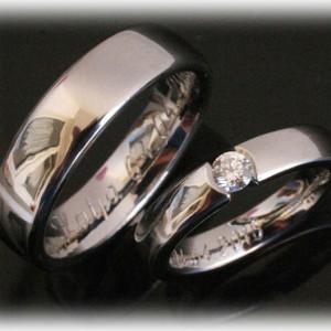 Platinum-Wedding-Rings-FT385-with-0,20ct-Diamond