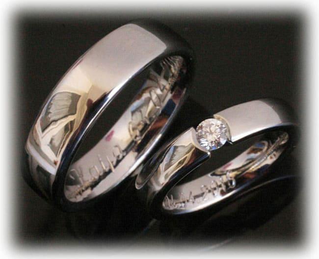 Platinum Wedding Rings.Platinum Wedding Rings Ft385 Polished With 0 20ct Diamond