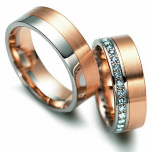 Two-Tone-Wedding-Rings-FT204-of-Rose-Gold