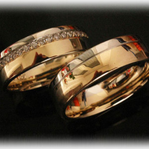 Two-Tone-Wedding-Rings-FT381-with-Diamonds