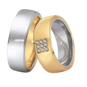 Two-Tone-Wedding-Rings-FT519-of-White-and-Yellow-Gold
