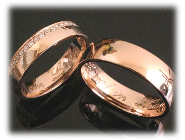 Unusual Wedding Rings Ft361 Rose Gold Infinity 0 50ct Diamonds