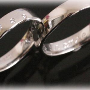 Wedding-Band-Sets-FT377-of--with-5-Diamonds
