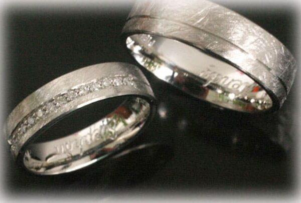 Wedding Band Sets.Wedding Band Sets Ft396 Of White Gold With 11 Diamonds