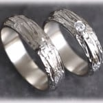 White-Gold-Wedding-Rings-FT120-Hammered