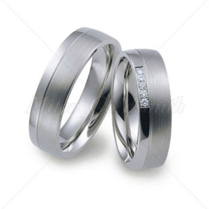 White-Gold-Wedding-Rings-FT217-with-5-Diamonds