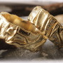Yellow-Gold-Weddinag-Bands-FT106-Hammered-1