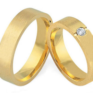 Yellow-Gold-Wedding-Bands-FT529-with-0,10ct-Diamond