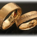 Custom Wedding Rings FT388 Ice Matted Yellow Gold