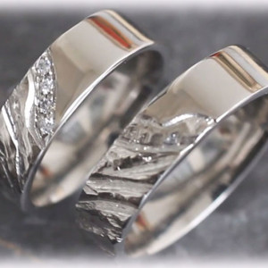 Unique Wedding Rings FT119 Made of Platinum 950