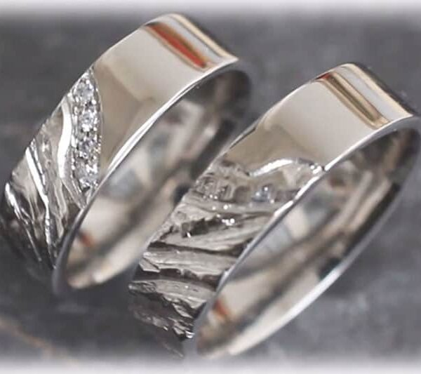 Unique Wedding Rings Ft119 Made Of Platinum 950 Online Shop For Wedding Rings