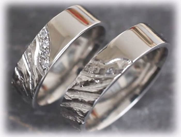 2ef8a77b1ce Unique Wedding Rings FT119 Made of Platinum 950